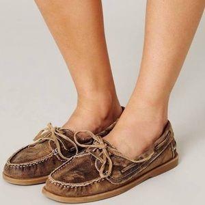 Bed Stu Women's Mindy Boat Shoe Loafer Brown 8